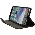 "Retro Flip Cover PU Leather Case w/ Card Slot and Stand for IPHONE 6 4.7"" - Black"