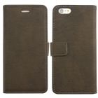 "Retro PU Leather Case Flip Cover w/ Card Slot and Stand for IPHONE 6 4.7"" - Dark Grey"