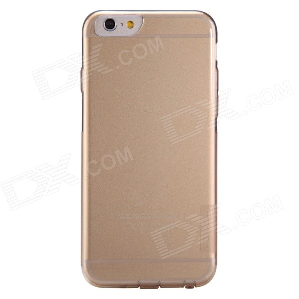 NILLKIN Ultra-thin Protective TPU Back Cover Case for IPHONE 6 - Translucent Brown stylish ultra thin protective tpu back case cover for 4 7 iphone 6 translucent pink