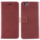 "Retro Flip Cover PU Leather Case w/ Card Slot and Stand for IPHONE 6 4.7"" - Wine Red"