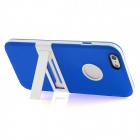Hat-Prince Protective TPU Case Cover w/ Stand for IPHONE 6 - Blue