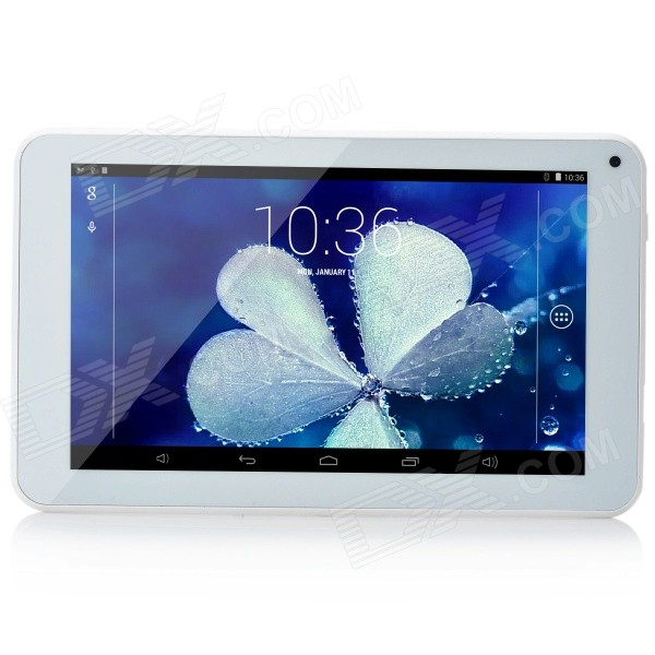 Cube U25GTC-C4W Quad-core Android 4.4.2 Tablet PC w/ 7, GPS, ROM 8GB, Bluetooth, Wi-Fi - White sosoon x88 quad core 8 ips android 4 4 tablet pc w 1gb ram 8gb rom hdmi gps bluetooth white
