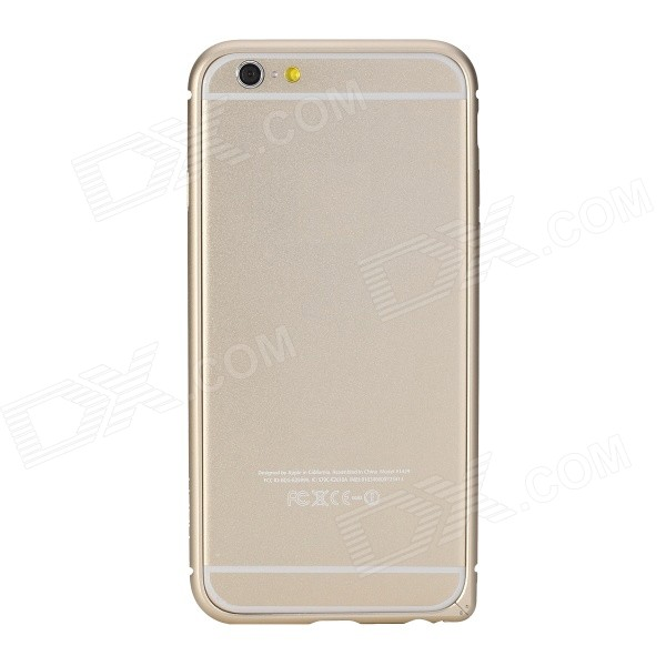 ROCK Aluminum Alloy Protective Bumper Frame Case for IPhone 6 4.7 - Champaign Gold protective aluminum alloy bumper frame case for iphone 5 rose gold