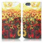ENKAY Flowers Oil Painting Style Protective Case w/ Stand and Card Slot for IPHONE 6 4.7""