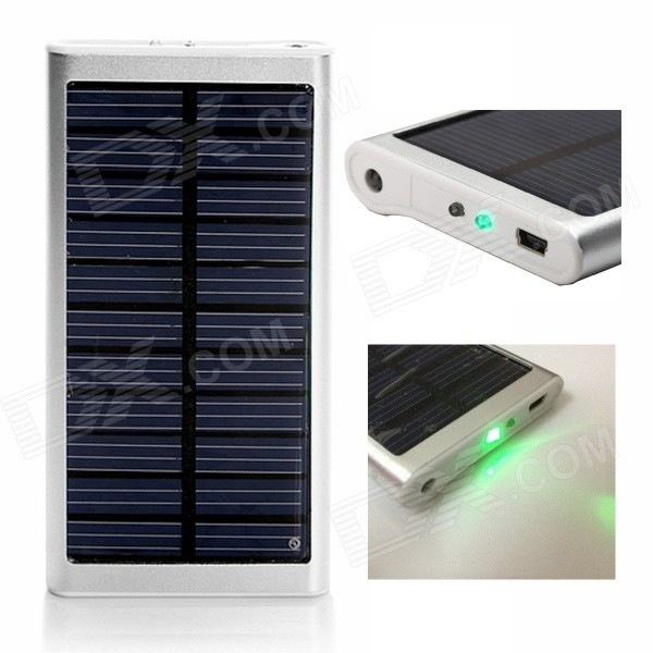 SP2600 Universal Outdoor 5V 2600mAh Li-ion Polymer Solar Power Bank Charger - Silver solar lithium battery 12v 200ah sufficient capacity competitive price lithium ion battery for solar energy solution solar system