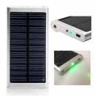 SP2600 Universal Outdoor 5V 2600mAh Li-ion Polymer Solar Power Bank Charger - Silver