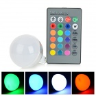 UltraFire MR16 3W LED RGB Light Remote Control Lamp Bulb - Silver + White (12V)