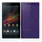 Mr.northjoe 2.5D 0.3mm 9H Front & Back Tempered Glass Film Protector for SONY Xperia Z L36h (2 PCS)
