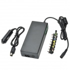 YH-8100 100W Universal EU Plug AC + Car Adapter Set for Notebook & Laptop