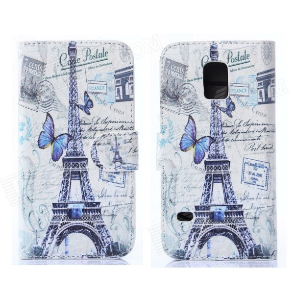 Hat-Prince Butterfly Pattern Protective Case w/ Card Slot for Samsung Galaxy S5 Mini - Multicolor благовония штучные lavender ppure