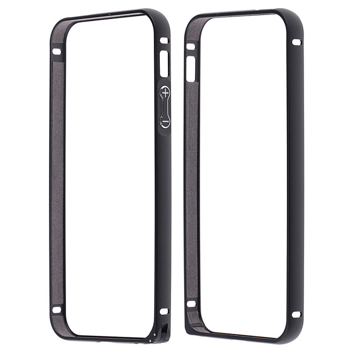 Protective Anti-radiation Aviation Aluminum Alloy Bumper Frame Case for IPHONE 5 / 5S mocoll arc edge hd screen protective tempered glass film for samsung galaxy s4 i9500 transparent