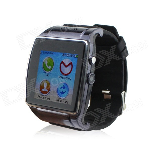 HI Watch L18  Wearable 1.55 Touch Screen GSM Quad-band Watch Phone w/ Bluetooth & Pedometer - Black i5 gsm wrist watch phone w 1 8 resistive screen quad band single sim and fm black
