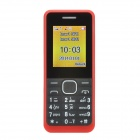 "1.77"" LCD Screen Dual-SIM Card Quad-band GSM Bar Phone w/ MP3 / FM - Red + Black"