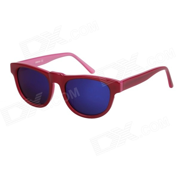 OREKA Children's Fashionable Cellulose Acetate Frame Resin Lens UV400 Sunglasses - Deep Pink oreka children s cool cellulose acetate frame blue revo lens uv400 sunglasses brown blue