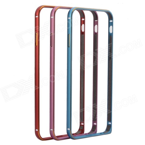 NEJE LJ-04 4.7 Circular Arc Metal Shell w/ Hippocampal Buckle for IPHONE 6 4.7 (3 PCS) love mei for iphone 6 plus hippocampal buckle metal bumper shell w curved edges blue