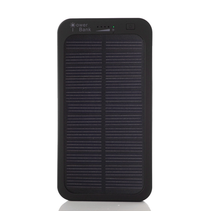 SP5000C Environmental Protection 5000mAh Solar Power Bank - Black
