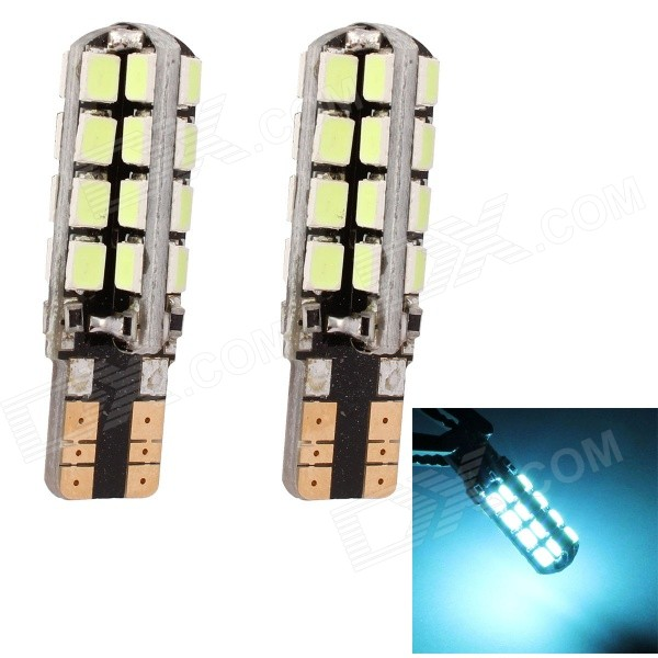 MZ T10 5W 320lm 490nm 3535 SMD LED Ice Blue Light Car Clearance Lamp / Signal Light (12V / 2 PCS)