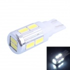 GC T10 4W 240LM 6000K 5630 SMD LED White Light Car Steering Lamp - White + Yellow (DC 12~24V)