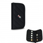 BUBM Elastic Water-resistant Shock-resistant USB Flash Disk / Data Cable Storage Bag Pouch - Black