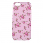 Roses Patterned Protective Flip-Open TPU Case for IPHONE 6 - Pink + Deep Pink