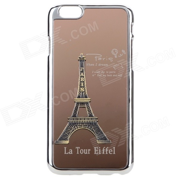 Eiffel Tower Pattern Plastic + Aluminum Alloy Back Case for IPHONE 6 4.7