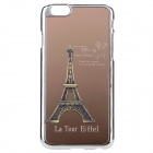 "Eiffel Tower Pattern Plastic + Aluminum Alloy Back Case for IPHONE 6 4.7"" - Golden + Silver"
