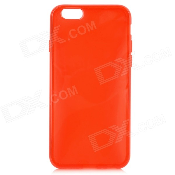 Protective Silicone Back Case for IPHONE 6 4.7 - Translucent Red protective silicone case for nds lite translucent white