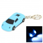 Creative Car Model Style 2-LED White Flashlight Keychain w/ Sound - Blue + Black (4 x LR41)