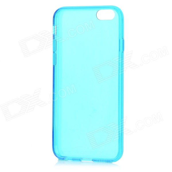 Protective Silicone Back Case for IPHONE 6 4.7 - Translucent Blue protective silicone case for nds lite translucent white