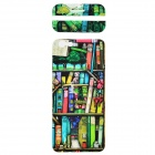 Stylish Bookshelf Pattern Decorative Front + Back PVC Stickers Set for IPHONE 6 4.7""