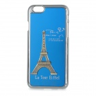 "Eiffel Tower Pattern Protective Plastic + Aluminium Alloy Case for IPHONE 6 4.7"" - Blue"