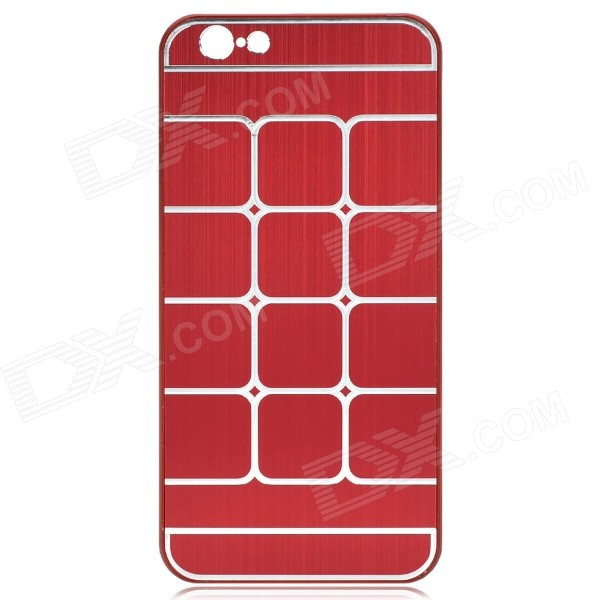 Plaid Pattern Aluminum Alloy + Plastic Back Case for IPHONE 6 4.7