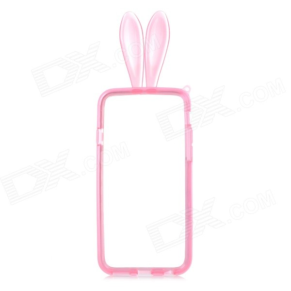 Rabbit Style Protective TPU Bumper Frame for IPHONE 6 4.7 - Translucent Red