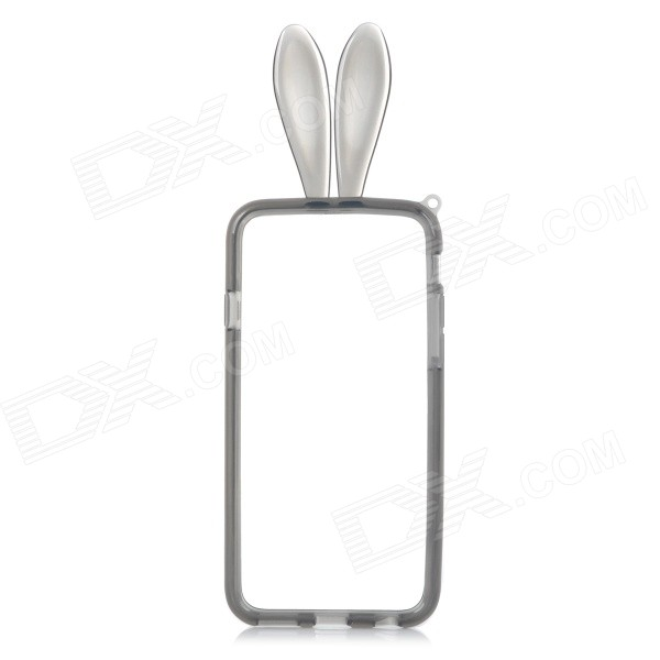 Rabbit Style Protective TPU Bumper Frame for IPHONE 6 4.7 - Translucent Black