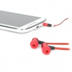 VYKON MK-3 Bass Stereo In-Ear Earphones w/ Microphone / Cable Control for Samsung - Red
