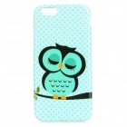 "Sleep Owl Pattern Protective TPU Back Case for IPHONE 6 4.7"" - Light Green + Black"