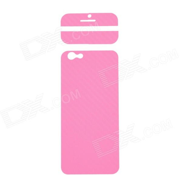 Fashion Decorative Front + Back PVC Stickers Set for IPHONE 6 4.7 - Pink auto accessories chameleon sticker 30m 1 52m functional car pvc red copper color stickers home decorative films stickers