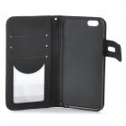 "DULISIMAI Flip-Open PU + PC Case w/ Stand / Card Slot for IPHONE 6 4.7"" - Black"