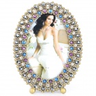 6777ABB European Style Fantastic Classic Rhinestone Zinc Alloy Photo Frame - Brass + Multi-Colored