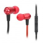 VYKON MK-4 Bass Stereo In-Ear Earphones w/ Microphone / Cable Control for Samsung - Red