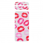"Fashion Red Lip Style Decorative Front + Back PVC Stickers Set for IPHONE 6 4.7"" - White + Red"