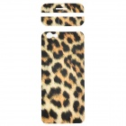 "Fashion Leopard Pattern Decorative Front + Back PVC Stickers Set for IPHONE 6 4.7"" - Beige + Black"