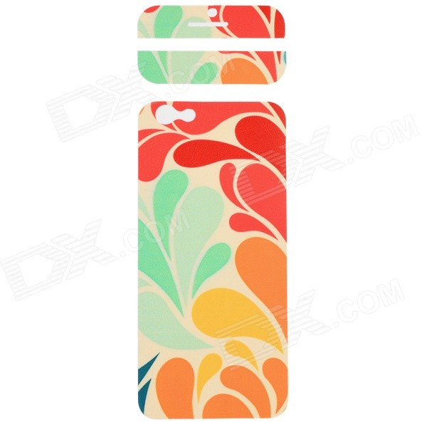 Fashion Decorative Front + Back PVC Stickers Set for IPHONE 6 4.7 - Beige + Green + Multi-Color auto accessories chameleon sticker 30m 1 52m functional car pvc red copper color stickers home decorative films stickers