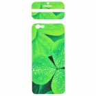 "Fashion Leaf Pattern Decorative Front + Back PVC Stickers Set for IPHONE 6 4.7"" - Grass Green"