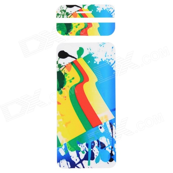 Fashion Decorative Front + Back PVC Stickers Set for IPHONE 6 4.7 - White + Blue + Multi-Color auto accessories chameleon sticker 30m 1 52m functional car pvc red copper color stickers home decorative films stickers