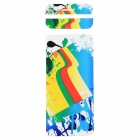 "Fashion Decorative Front + Back PVC Stickers Set for IPHONE 6 4.7"" - White + Blue + Multi-Color"