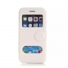 "Flip-open PU Leather Case w/ Window for IPHONE 6 4.7"" - White"