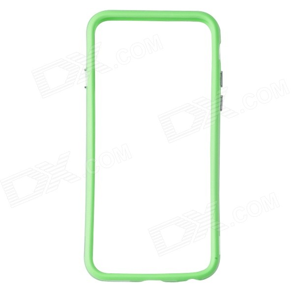Protective TPU + PC Bumper Frame for IPHONE 6 - Green + Transparent