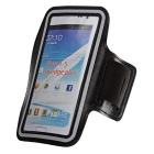DULISIMAI Water Resistant Protective Nylon Armband for Samsung Galaxy Note 4 - Black + Grey
