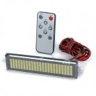 HT-2 Car Vehicle Mounted 4.8W 30lm White Light Tail License Plate LED Scroll Displayer - Black